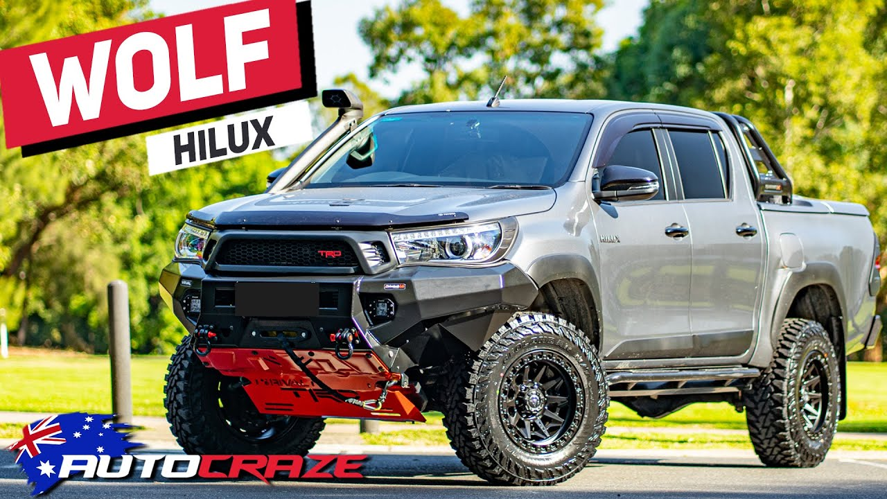 WOLF HILUX - CRAZY TOYOTA HILUX (LIFT KIT, WHEELS, RIVAL BAR & MORE)
