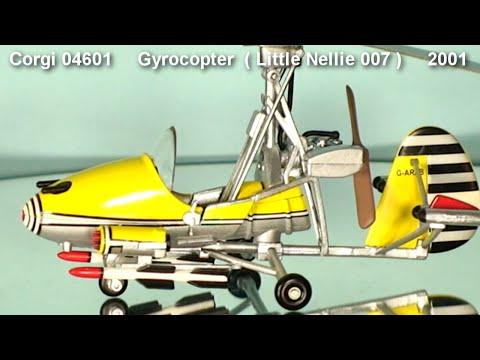 James Bond's Gyrocopter  'Little Nellie'  Corgi Toys   2001