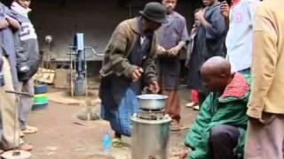 Sawdust Stove Kisangani Smith Group, Tanzanian stoves burn sawdust