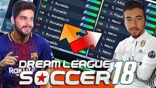 7 TANE RONALDO vs 7 TANE MESSİ! - Dream League Soccer 2018 (El Clásico)