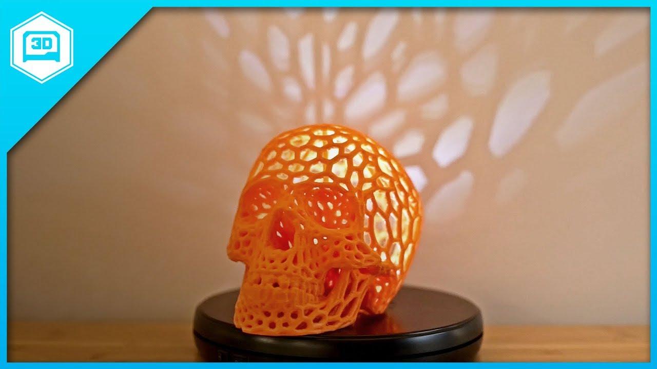 3d Printed Skull Lamp Timelapse Tuesday Youtube