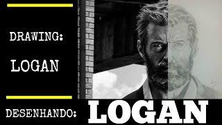 DESENHANDO: LOGAN (Branco e Preto) | DRAWING: LOGAN (Black and White)