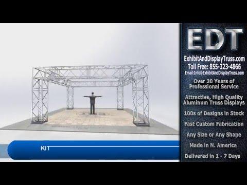 diy portable stage small stage lighting truss. Truss Kit C21-244 Heavy Duty Lighting Exhibit Display For Stage Diy Portable Small T