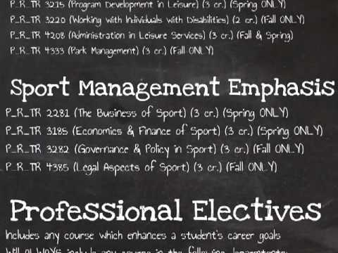 Sport Management Emphasis Major Requirements Youtube