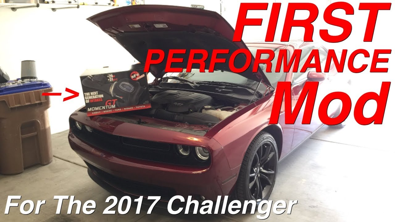 33e93ef632d aFe Cold Air Intake Install on My 2017 Dodge Challenger SXT Plus with  Before and After Sound
