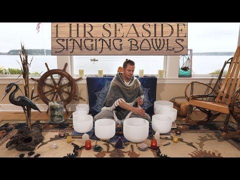 Singing Bowl Sundays - 1 Hour Seaside Cottage Singing Bowls No Talking  Sleep  Study  Meditation