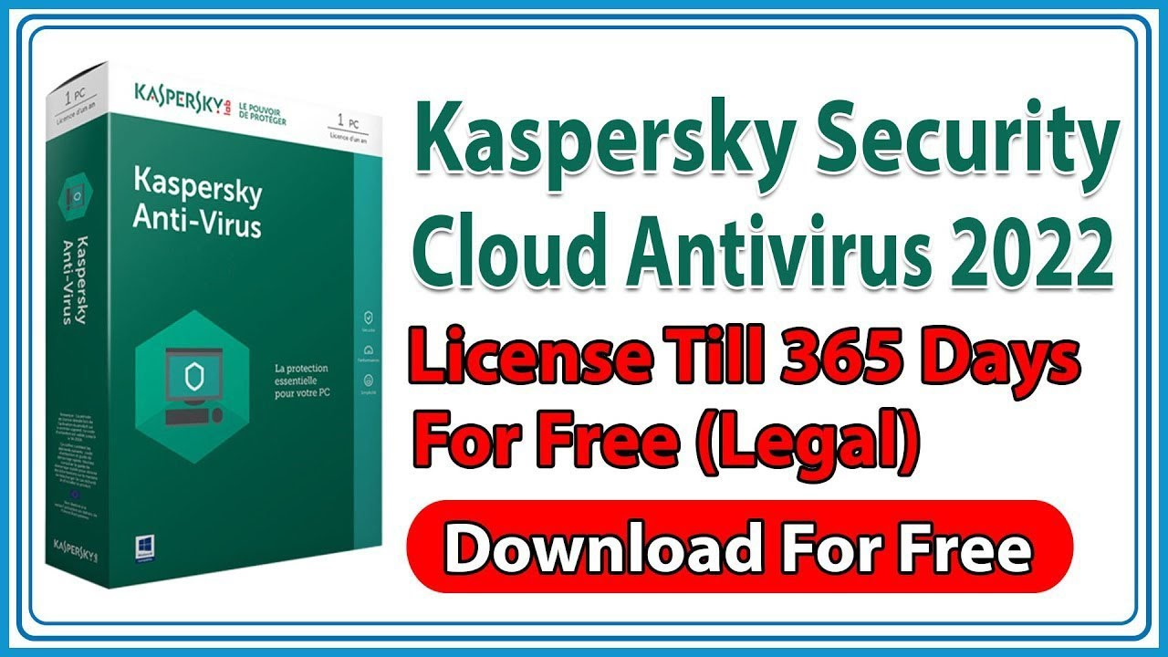 Kaspersky Security Cloud Antivirus 2020 Free for 1 Year, 365 days (Legal)