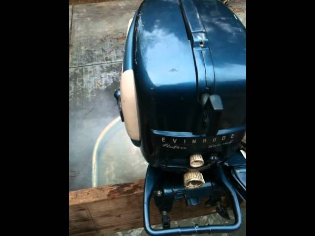 1958 Evinrude Fleetwin 75hp Outboard Motor Leclife Online