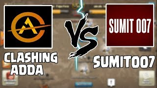Clashing Adda vs Sumit007 | TH9 3 STAR CHALLENGE |  Clash of clans INDIA
