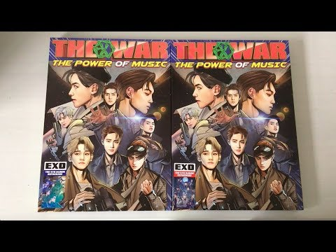 ♡Unboxing EXO 엑소 4th Album Repackage The War: The Power Of Music 파워 (Korean & Chinese Ver.)♡