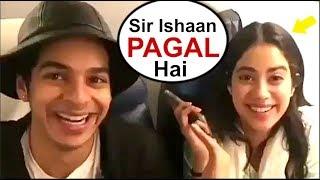 Jhanvi Kapoor Makes FUN Of Ishaan Khattar - Funny Video  Dhadak Movie Song Launch