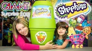 SHOPKINS GIANT SURPRISE EGG | Shopkins Season 3 Blind Baskets & Playsets Opening