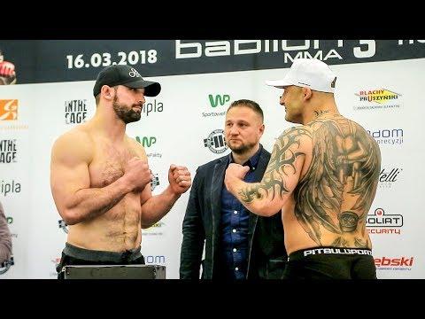 Ceremonia Ważenia Przed Galą Babilon MMA 3 W Radomiu