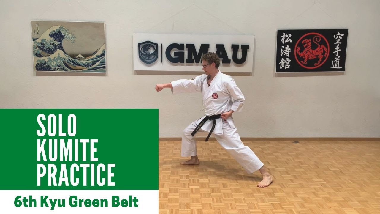 Shotokan Karate - 6th Kyu Green - Solo Kumite Class