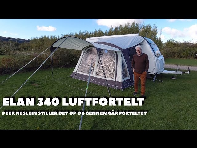 Outdoor Revolution model Elan 340 lufttelt med solsejl  - (reklame)