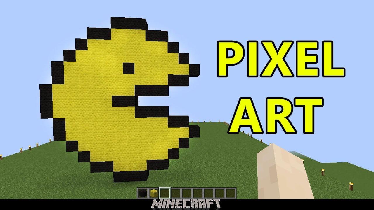 "Minecraft Pixel Art: ""PAC-MAN"" TUTORIAL ITA"