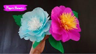 Cara Mudah Membuat Bunga Dari Kertas Krep Videoclip