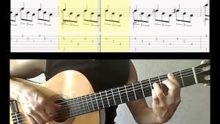 Романс - В.Гомес (2-я часть) - Видео-ноты для гитары - Romance-Gomes