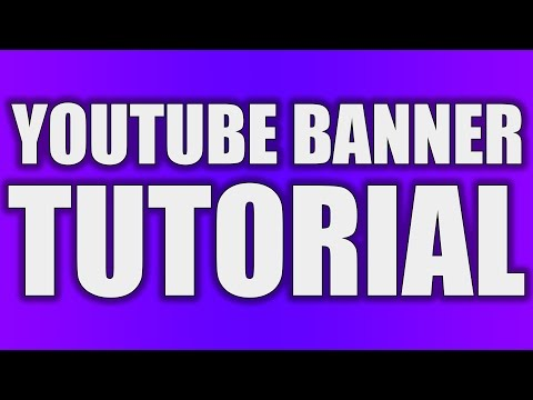 How To Make A Youtube Banner In Photoshop Channel Art Tutorial