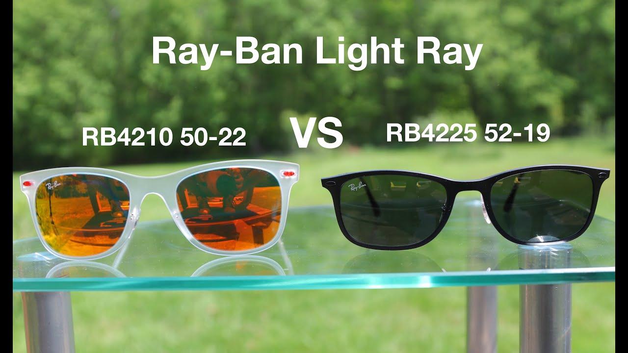 e17ad82e79 Ray-Ban Wayfarer Light Ray RB4225 vs RB4210 - YouTube