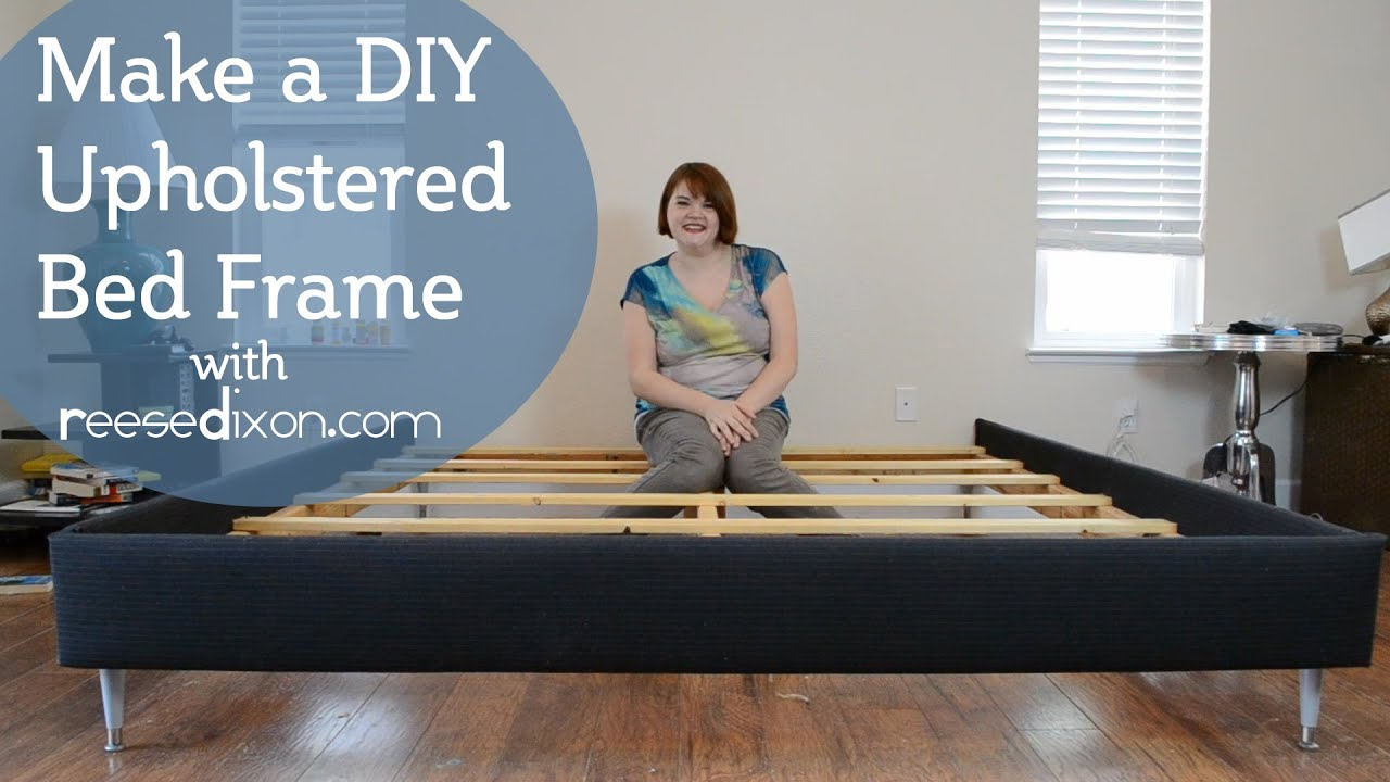 How to build a DIY upholstered bedframe - YouTube