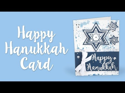 How To Make A Happy Hanukkah Card | Sizzix