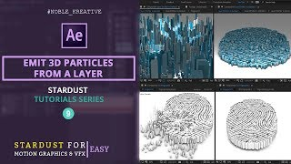 تنبعث 3D جزيئات من طبقة في AE | سهل