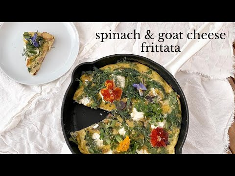 spinach & goat cheese frittata