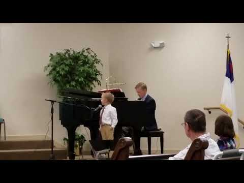 4 year old boy, Paul Waller sings a special at Church: Trust and Obey