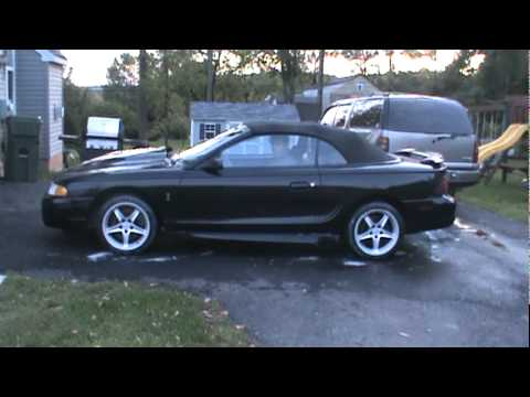 1995 Mustang Cobra Quick Revs Side Exhaust Sound Youtube