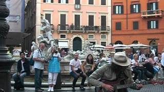 Marcello Calabrese - Shine on your crazy diamonds @ Rome piazza Navona