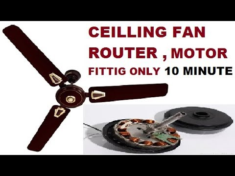 Ceilling Fan Fitting And Setting Part=4 Very Easily