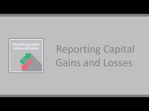 Reporting Capital Gains and Losses