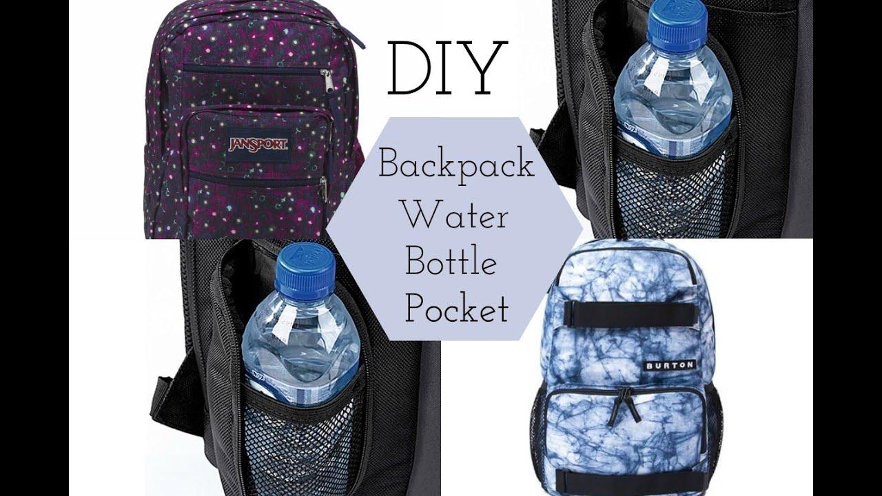 DIY Backpack Water Bottle Pocket - YouTube