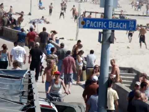 """San Diego Beaches - Pacific Beach """"PB"""" Boardwalk"""