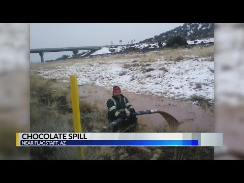 Tony Sandoval on The Breeze - 40,000 lbs of Liquid CHOCOLATE Spilled on the Highway Stops Traffic.