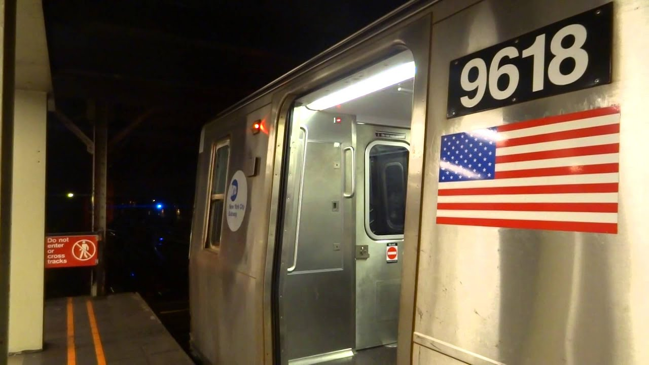 NYC Subway Special Jamaica Bound R160 R Entering Leaving 57th Street 7th Avenue A4 Tk