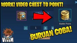 Tukar Video Chest menjadi Point! | Mobile legends