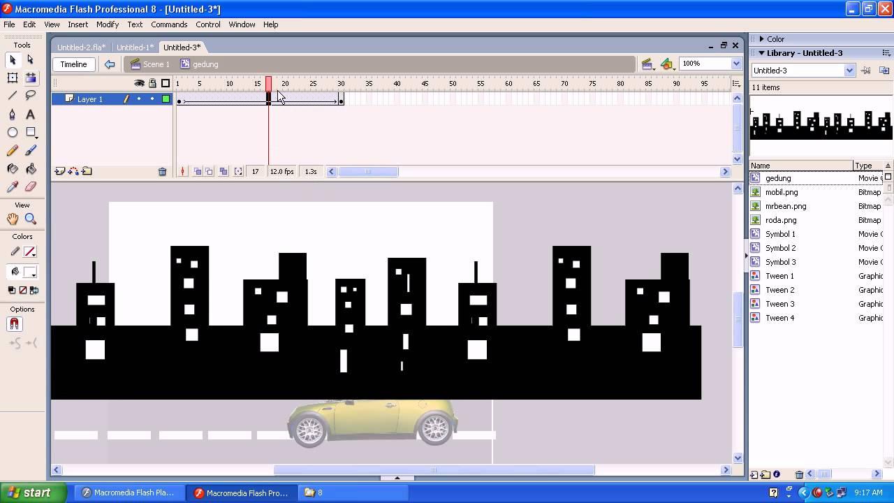 Cara membuat animasi gerak dengan photoshop cs6 youtube.