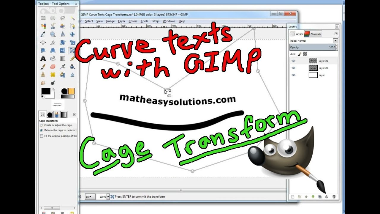 Learn gimp tutorial – day 12 – threshold aliasing and curves – cg beer.