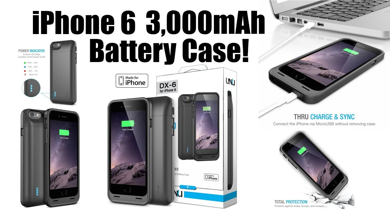 info for 4dd5b 8757a iPhone 6 UNU DX-6 Protective Battery Case