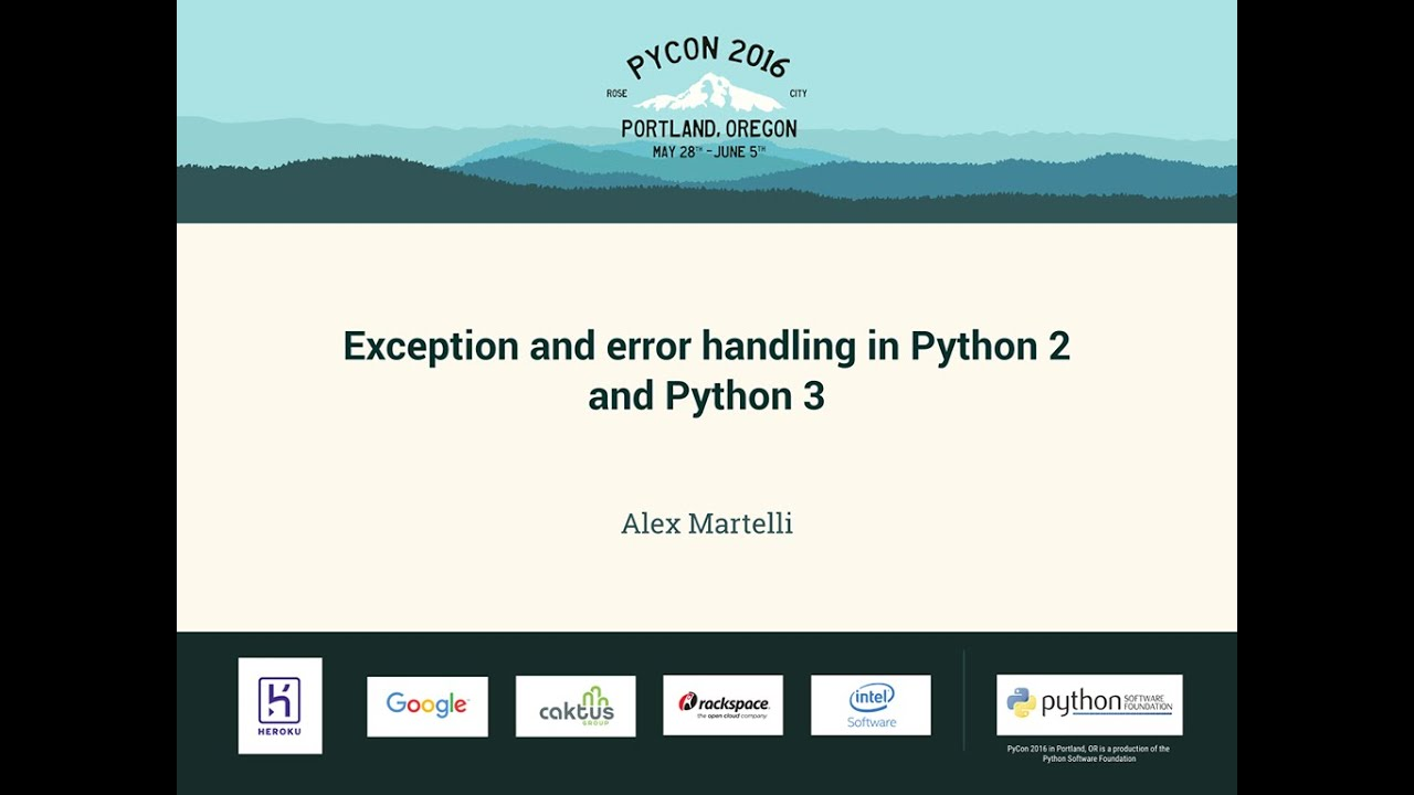 Image from Exception and error handling in Python 2 and Python 3