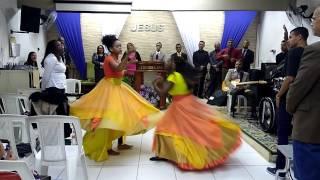 Coreografia canela de fogo dança profética Caim e Abel muro de fogo