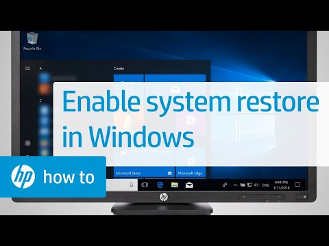 How To Enable System Restore In Windows | HP Computers | HP