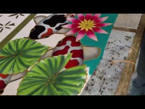 Nine Koi Batik Painting | Langkawi, Malaysia