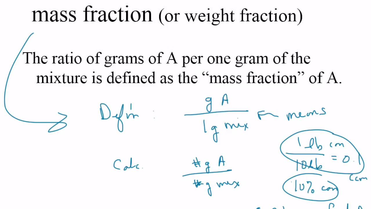 how to find weight percent from mole fraction