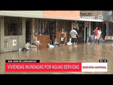 San Juan de Lurigancho: continúan trabajos de rescate en zona afectada por aniego