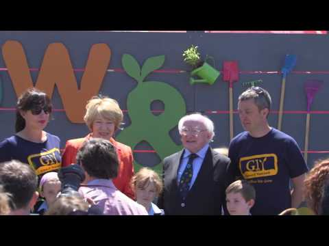 President of Ireland, Michael D. HIggins, visits Bord Bia's Bloom