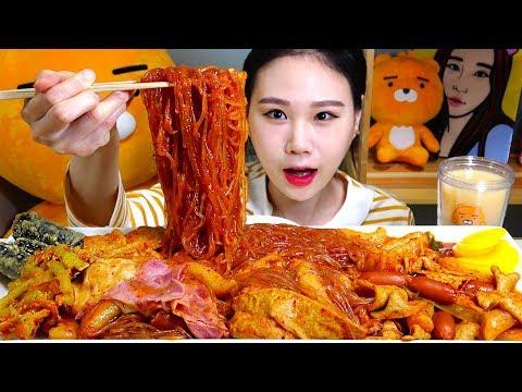 엽떡 신메뉴 초보맛 당면토핑 베이컨사리 먹방 Mukbang