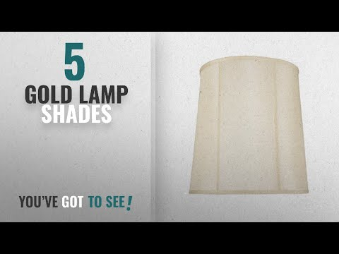Top 10 Gold Lamp Shades [2018 ]: Aspen Creative 35008 Transitional Drum (Cylinder) Shape Spider